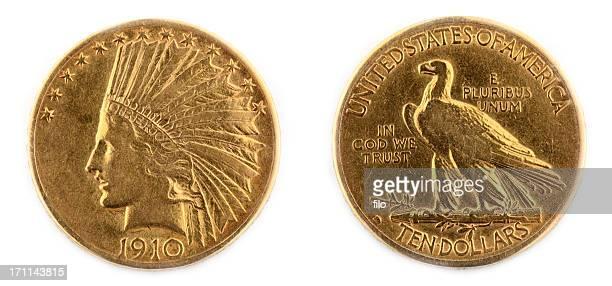 Isolierte Goldene Münze