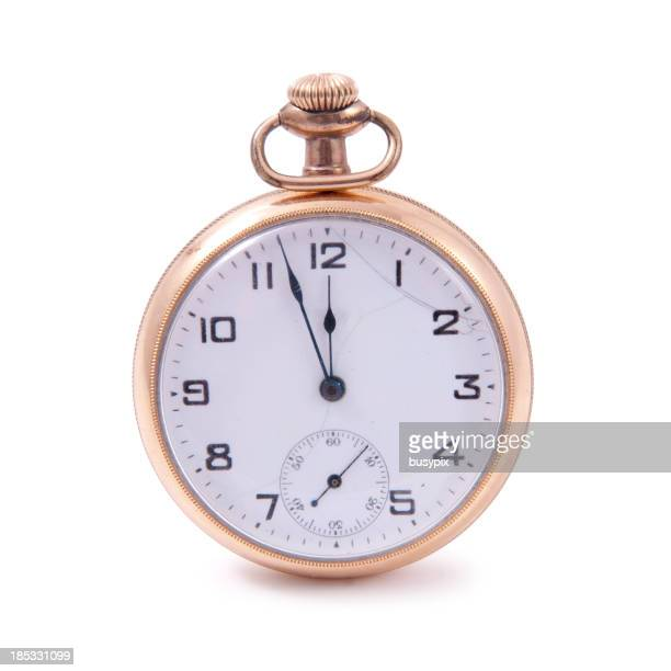 Isolated Gold Pocket Watch