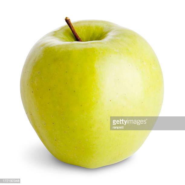 Isolated Green Apple with Clipping Path (3 Part Set)