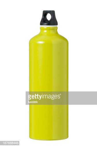 Isolated green flask