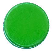 Isolated Green Metal Bottle Cap
