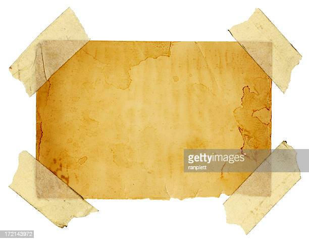 Isolated Grungy Taped Up Paper (with Clipping Path)