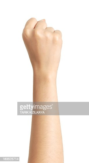 isolated hand, fist