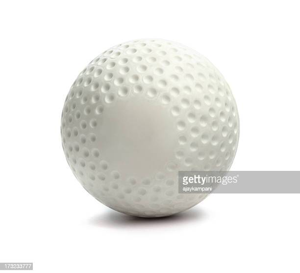 Isolated hockey ball against a white background
