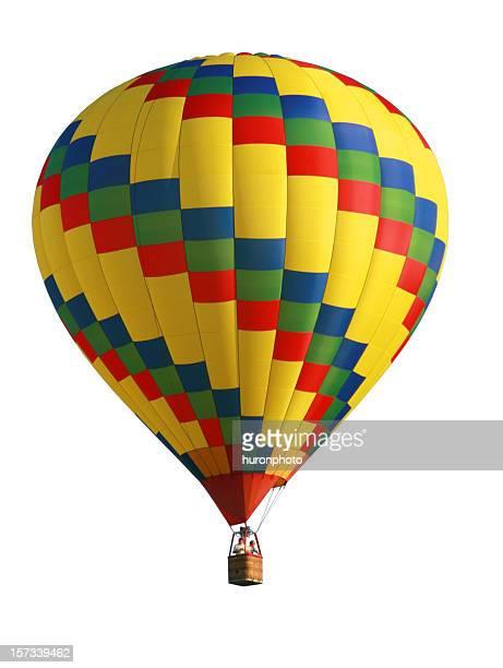 isolated hot air balloon