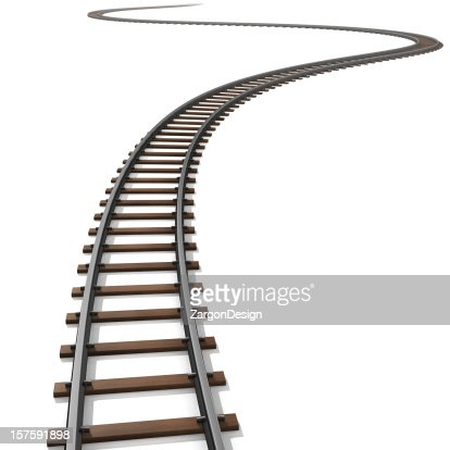 Isolated illustration of railroad tracks