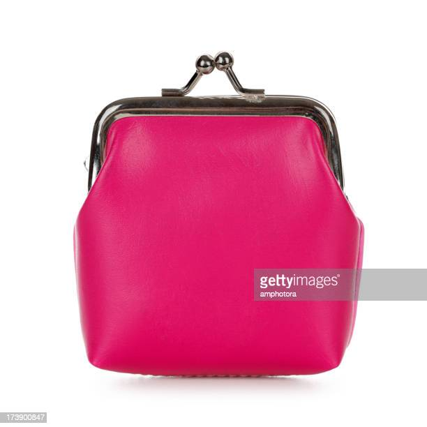 Isolated image of a pink purse on a white background