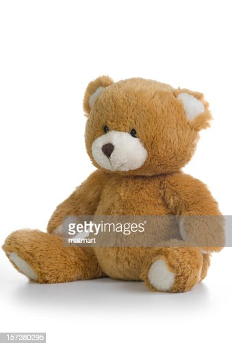 Isolated image of a teddy bear on a white background