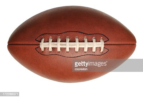 Isolated image of an American football
