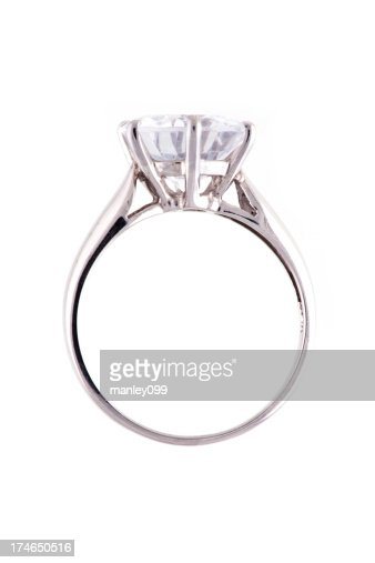 isolated large diamond ring