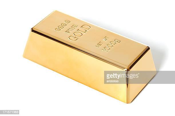 Isolated Large Gold Ingot