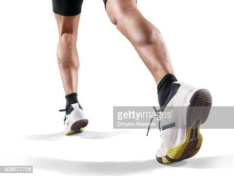 Isolated male athlete : Stock Photo