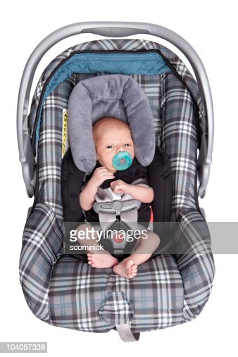 isolated newborn baby in car seat stock photo getty images. Black Bedroom Furniture Sets. Home Design Ideas