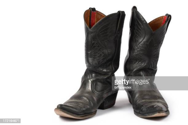 Isolated Old Cowboy Boots