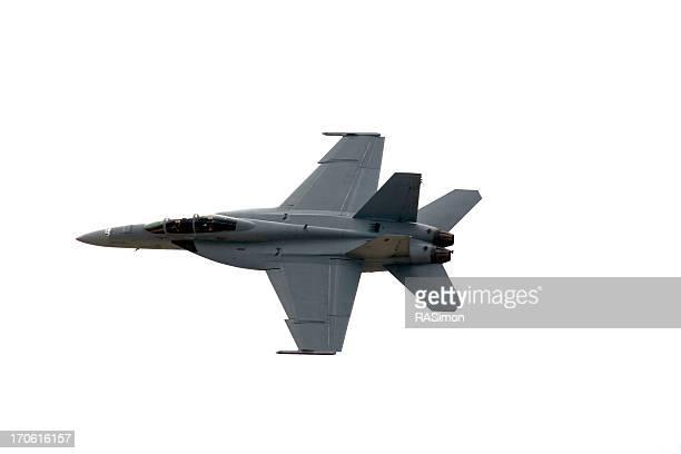 F/A - 18 isolé sur blanc