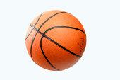 Isolated Orange Basketball