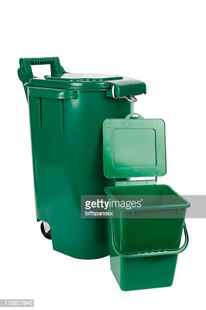 Isolated Organic Green Bins