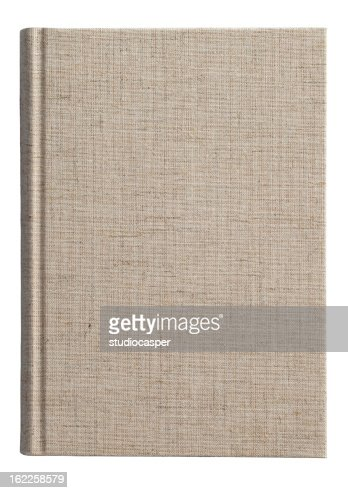Isolated photo of a fabric covered book cover