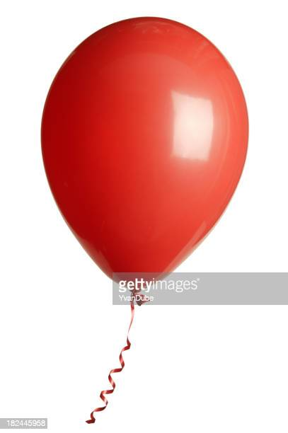 Isolated picture of a red balloon