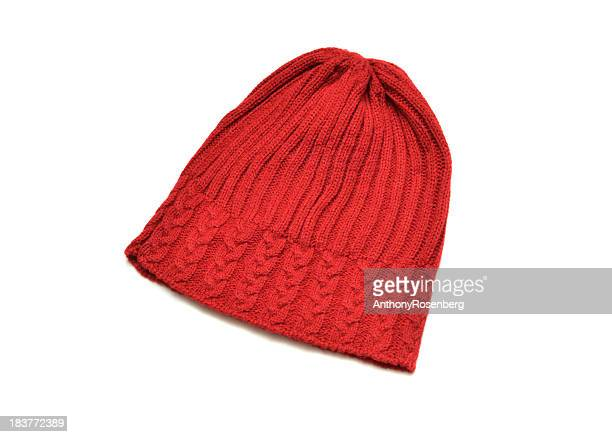 Isolated picture of a red toque hat