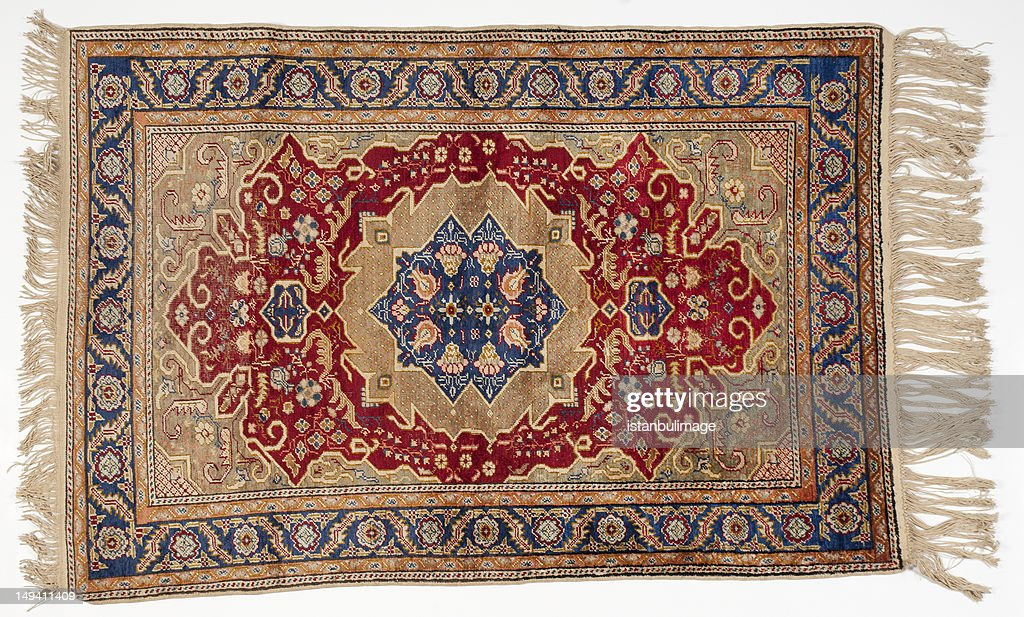 Isolated picture of a traditional middle-eastern rug : Stock Photo