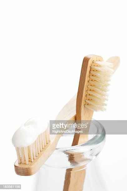 Isolated picture of toothbrushes on a jar