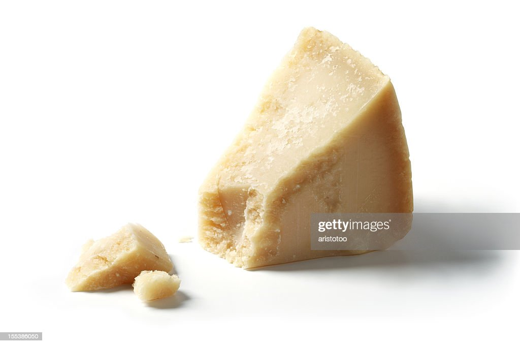 Isolated Piece of Parmesan