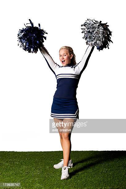 Isolated Portraits-Cheerleader with Pom Poms
