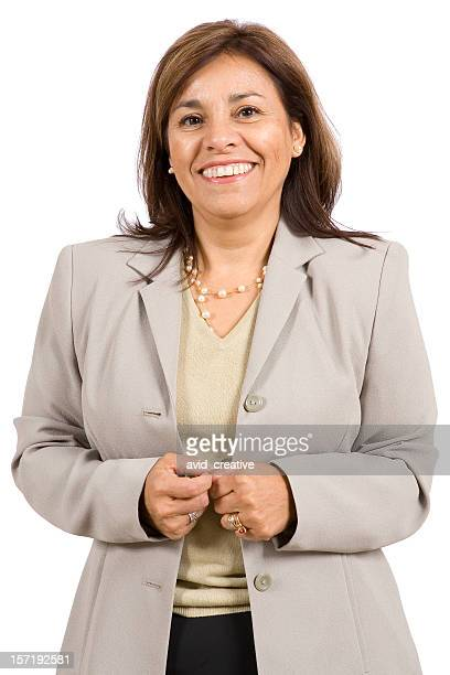 Isolated Portraits-Mature Hispanic Woman
