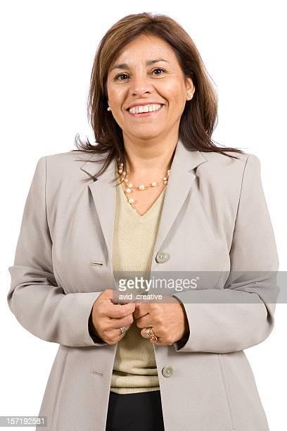 Isolierte Porträts-Reife Hispanic Frau