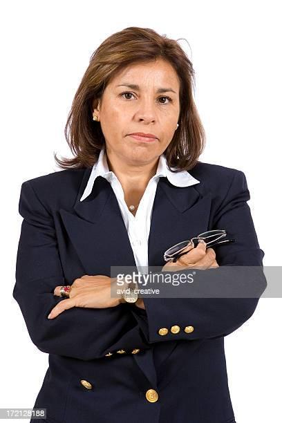 Isolated Portraits-Mature Hispanic Woman