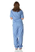 Isolated rear view of female nursehttp://www.twodozendesign.info/i/1.png