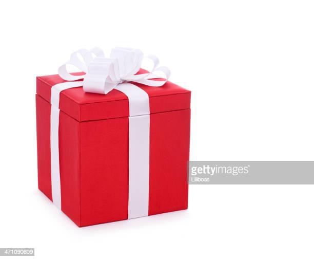 Isoliert Rot Weihnachten Geschenk
