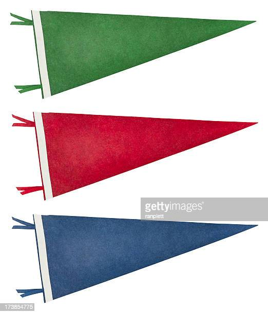 Isolated Retro Pennants (with Clipping Path)
