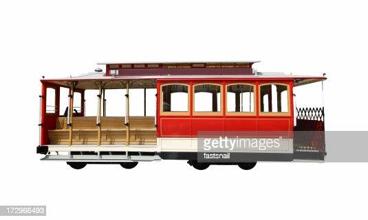 Isolated San Francisco touristic Cablecar