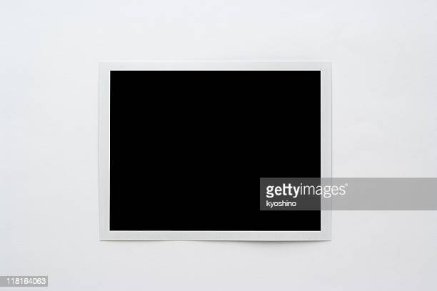 Isolated shot of blank polaroid on white background