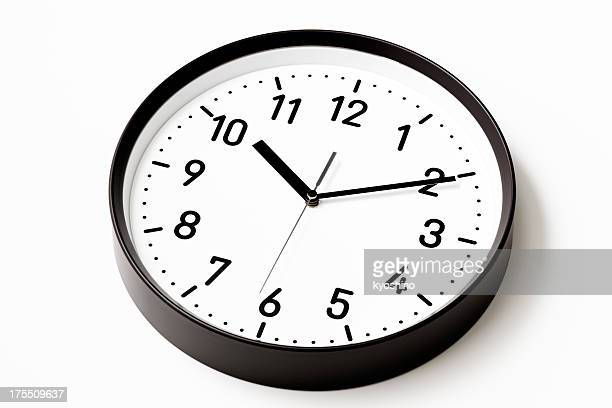 Isolated shot of Clock on white background