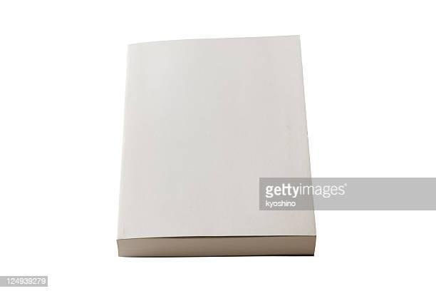 Plan de livre blanc isolé sur fond blanc