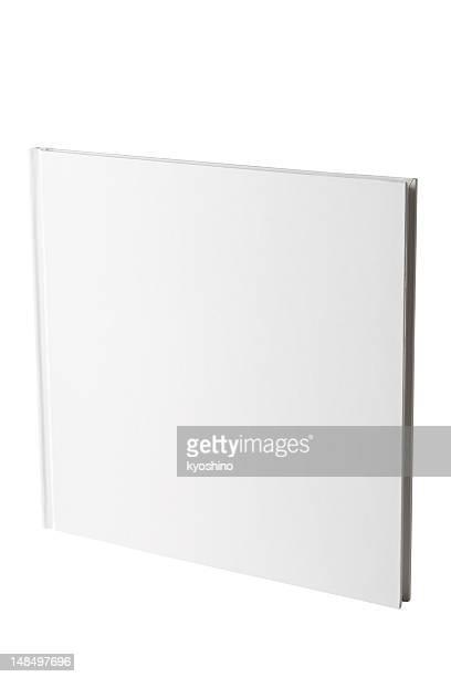 Isolado Filmagem de quadrado branco livro em Branco sobre fundo branco