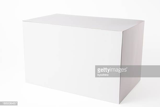 Imagen de blanco Aislado en blanco caja en fondo blanco