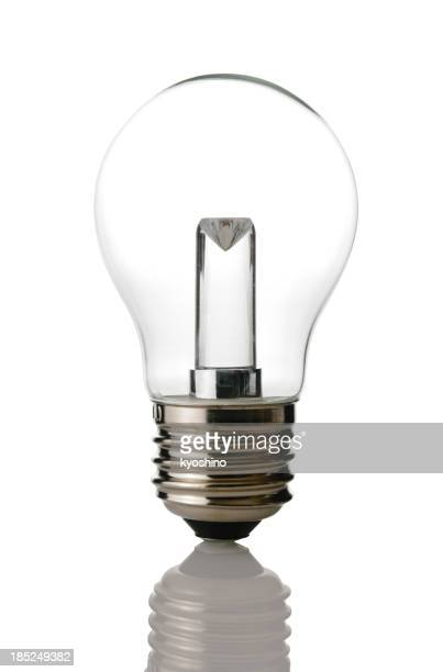 Isolated shot of  LED light bulb on white background