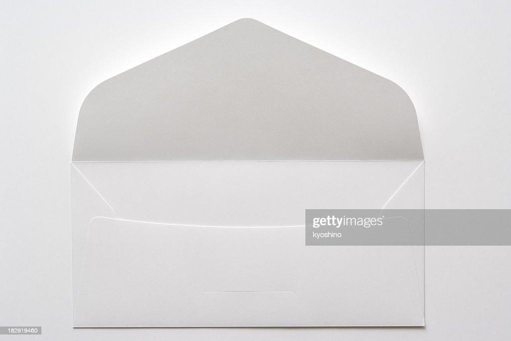 Isolato colpo di Busta bianca su sfondo bianco : Foto stock