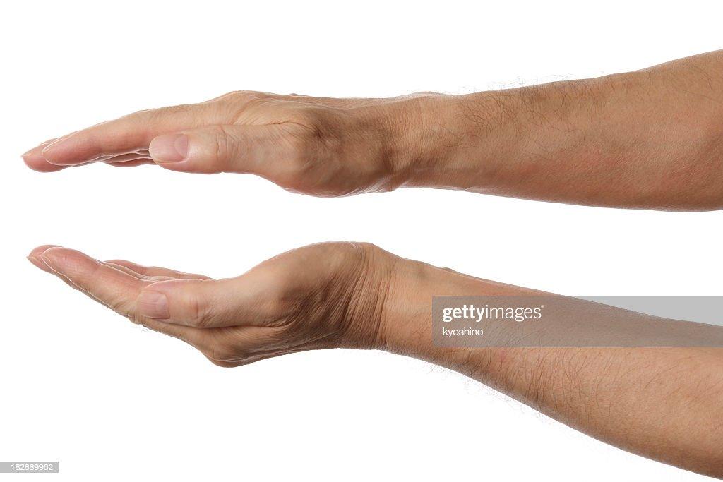 Isolierte Schuss von Palmen Hand-Symbol auf weißem Hintergrund : Stock-Foto