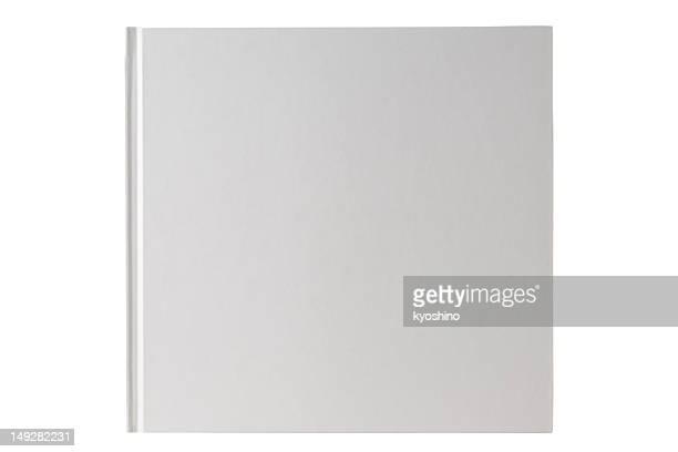 Fotografía de libro en blanco aislado sobre fondo blanco