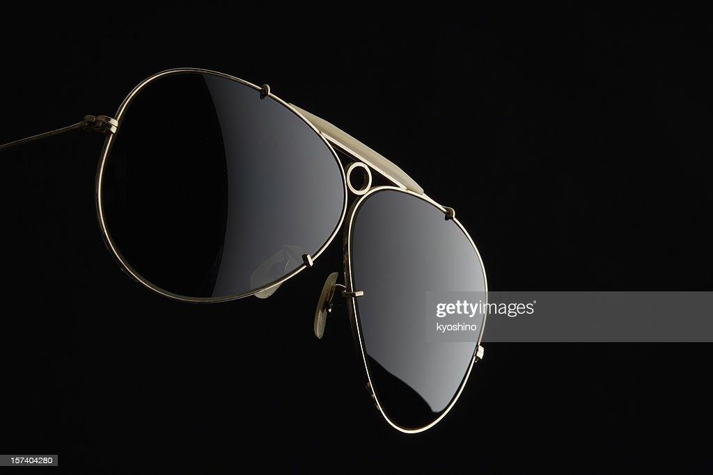 Isolated shot of Sunglasses on black background