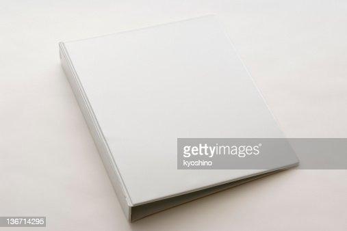 Imagen de blanco Aislado en blanco sobre fondo blanco carpeta de anillas