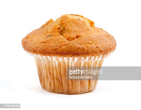 isolated single muffin
