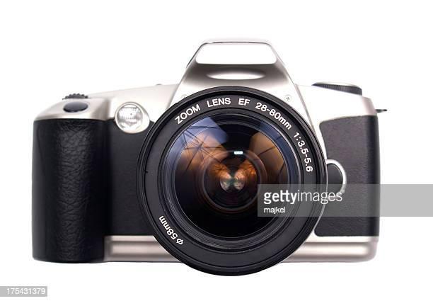 Isolé Appareil photo reflex à un objectif