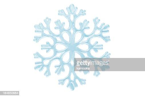 Isolated Snowflake On White