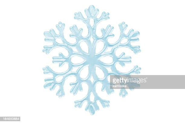 Isolated Snowflake On White